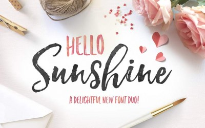 Hello Sunshine!  A New Brush Font Duo!