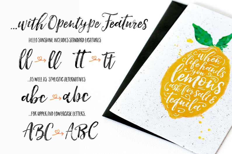 Hello Sunshine Brush Font Duo