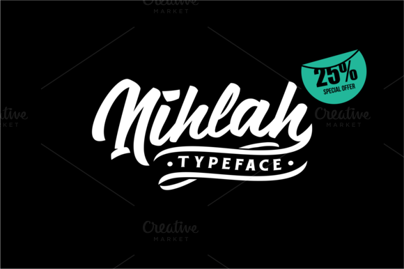 Nihlah - Script font with a lot of character.