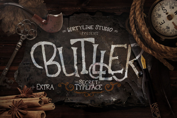 Butller is a handmade display typeface with lovely ornaments in some of the characters.