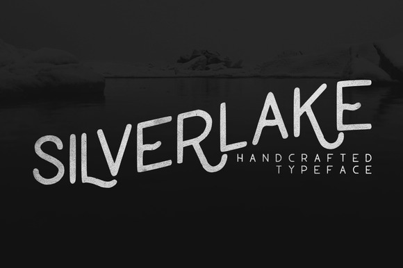 "'Silverlake' is a handcrafted typeface that suits the popular vintage style of ""hand lettering"" that we all see and love today."
