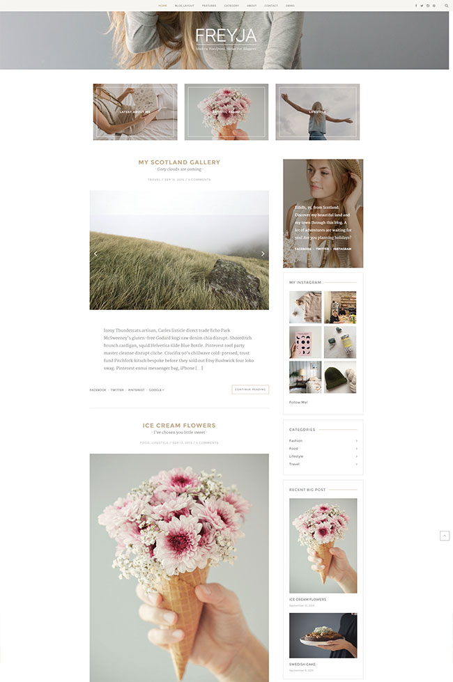 FREYJA – Theme for Bloggers