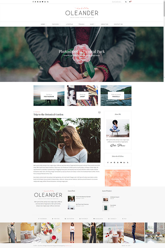 Oleander – Blog & Shop Theme