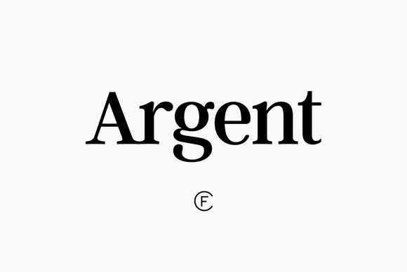Argent font - Dashing and expressive, with an overstated x?height and evocative letter­forms. True italics and lots of character.