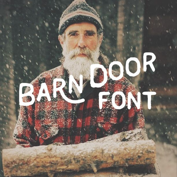 Handmade barn door font gives that rustic woodsy feel to your designs.