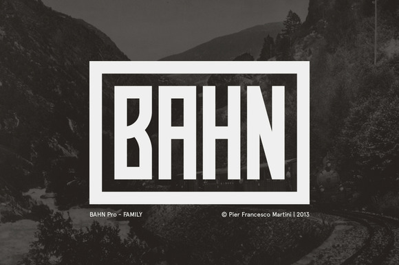 Bahn Pro FAMILY is a display font inspired by the old austrian bahn signs.