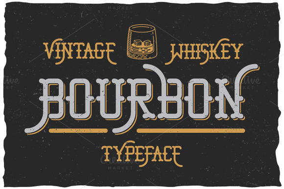 Bourbon Whiskey Typeface
