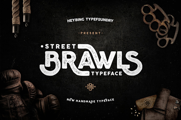 Brawls Typeface is new font with simple, minimalistic, retro and vintage feel character set.