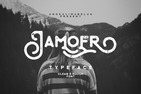 Jamoer Typeface is rounded font with vintage look styles. You can applied to logos, wedding invitation, display, clothing, quotes and many more.