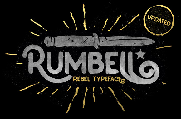 Rumbell is a solid bold vintage display font inspired from the old store and garage billboard in the classic era.