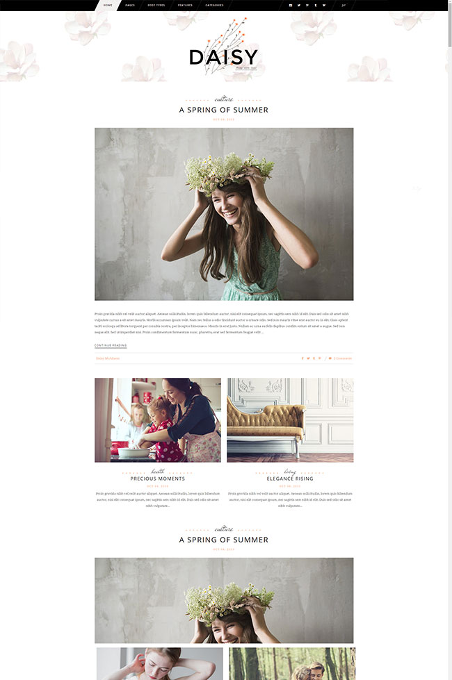 Tomas & Daisy – A Stylish Theme