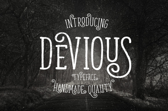Devious Typeface is new font with simple, minimalistic, retro and vintage feel character set.