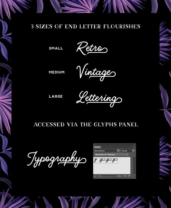 Bloomsbury - A hand drawn typeface in 3 styles - Script, Sans & Serif