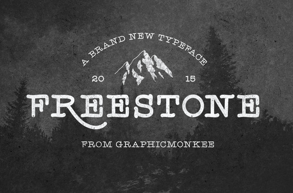 Freestone is a simple and clean hand drawn font. It is inspired by the hand lettering movement, the outdoors, and vintage style design.