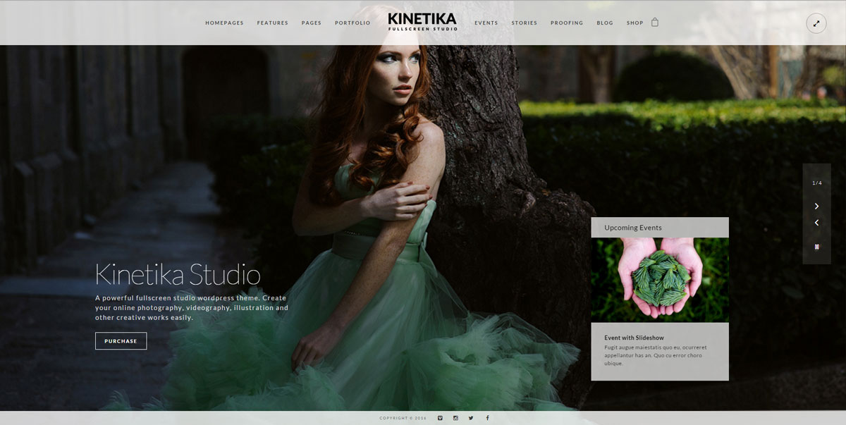 Kinetika – Fullscreen Photography Theme