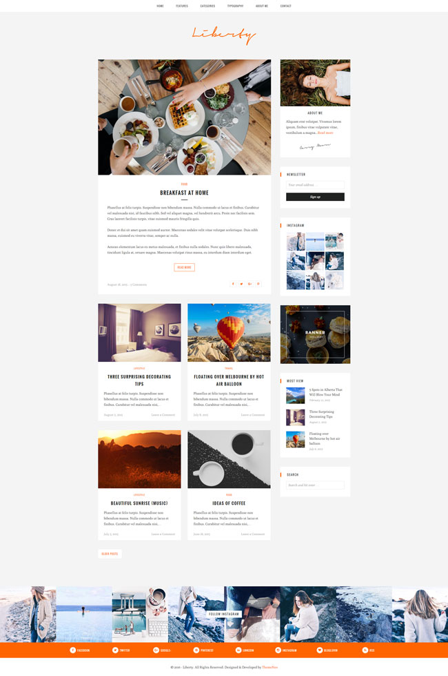 Liberty WordPress Theme