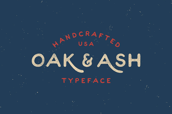 Oak & Ash is perfect for your hand drawn logos and branding.