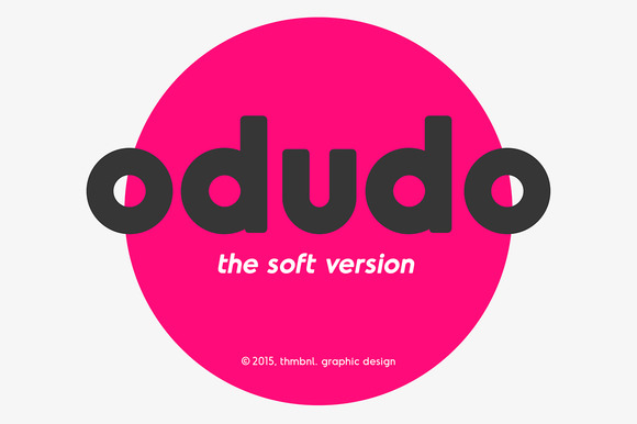 Odudo font has very subtle rounded corners This typeface should make your project a little bit more friendly.
