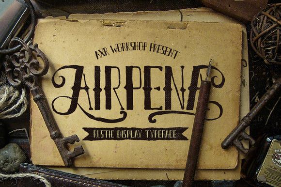 Airpena is inspired from rusted and distressed handdrawn lettering used on vintage motorcycles. AIRPENA represents that retr, rustic style.