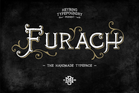 Furach is a typeface inspired from graphics and vintage posters, that is done entirely by hand, made with a simple style, classic look, elegant and natural.