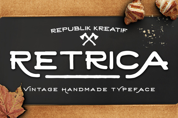 Retrica, a new handmade vintage typeface, simple, elegant and more handrawn taste. was completely with some alternate characters.