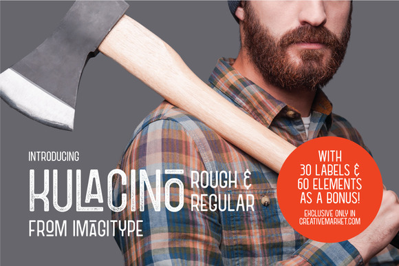Kulacino is a modern-retro display typeface that is inspired by oldtimes factory signage.