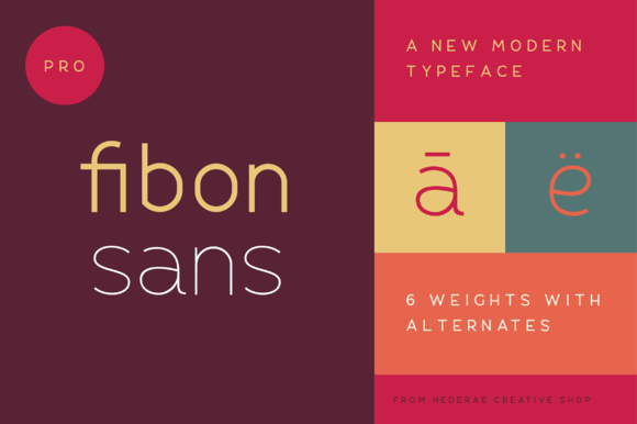 Fibon Sans - It is a balanced, low contrast, geometric, highly legible typeface very well suited for any display and text use.