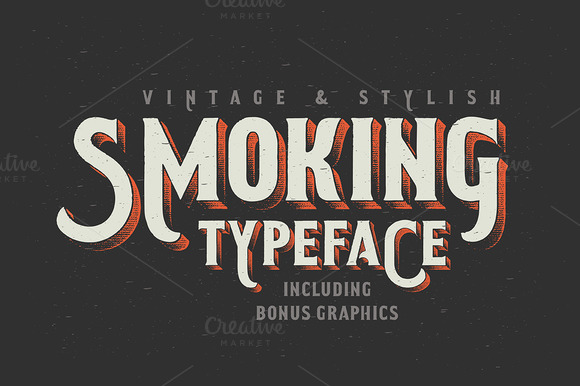 Smoking Typeface is a retro font with a Western feel.