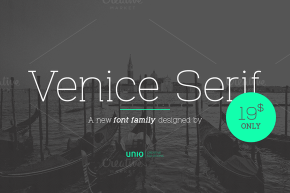 Venice Serif font is suited for advertising, corporate design, packaging, editorial and branding.