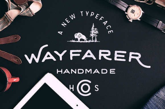 Wayfarer - Hand Drawn Font with Vintage Feel and Lovely Glyphs.