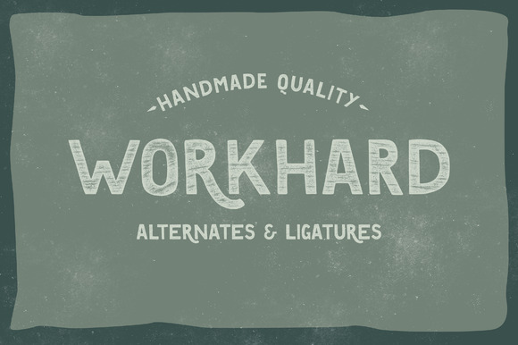 WORKHARD is entirely drawn by hand which gives this font a very friendly attitude and an easy to use appearance in multiple projects.