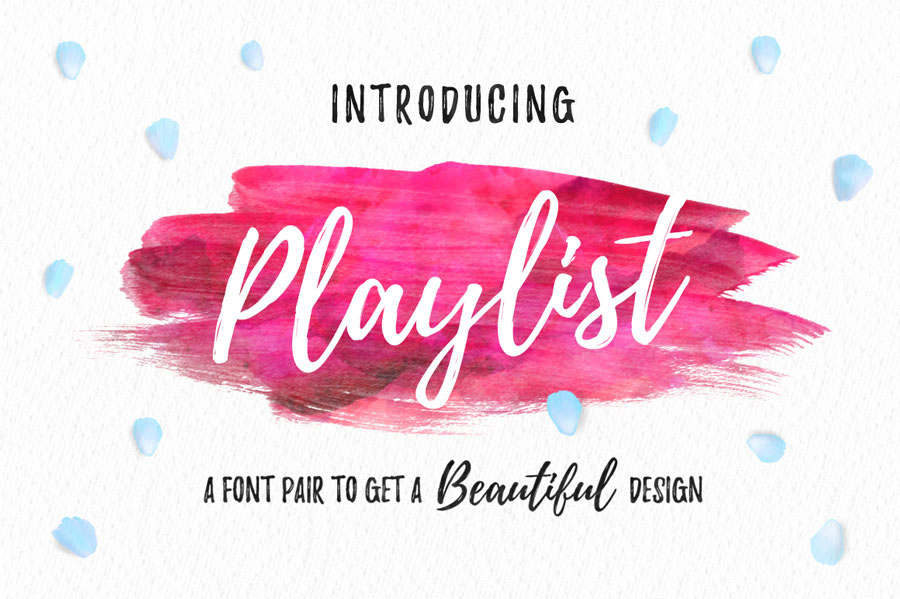 Playlist – A Free Brush Script Font Duo