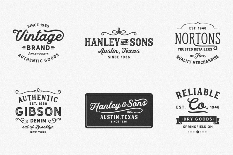 Hanley Vintage Font Collection
