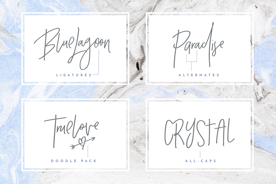 Crystal Sky Brush Font Example