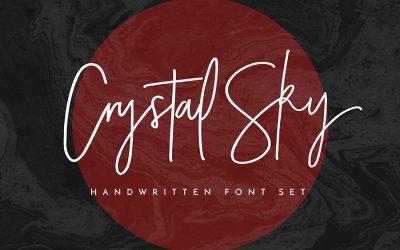 Crystal Sky Hand-Lettered Font