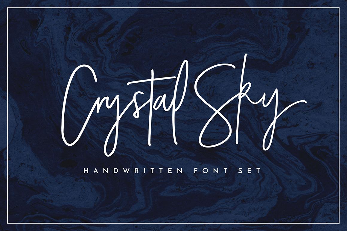 Crystal Sky Brush Font