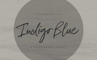 Indigo Blue Font