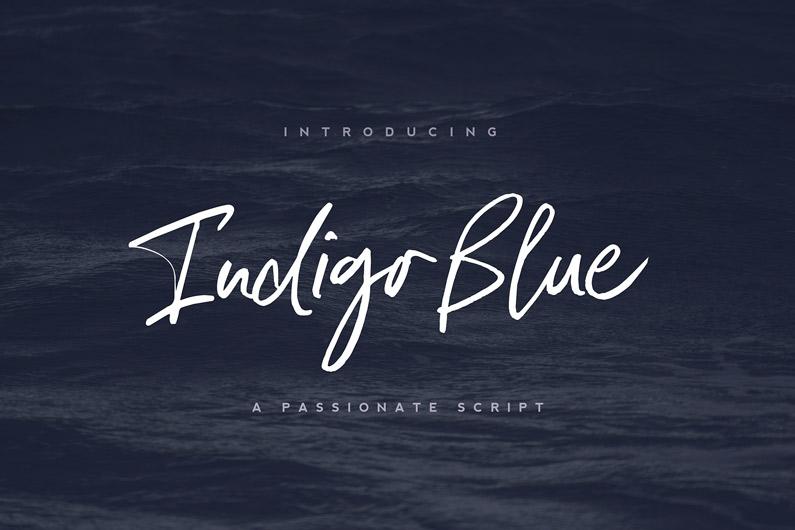Indigo Blue Brush Font