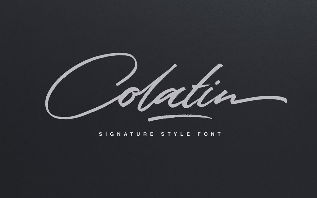 Colatin font for signatures