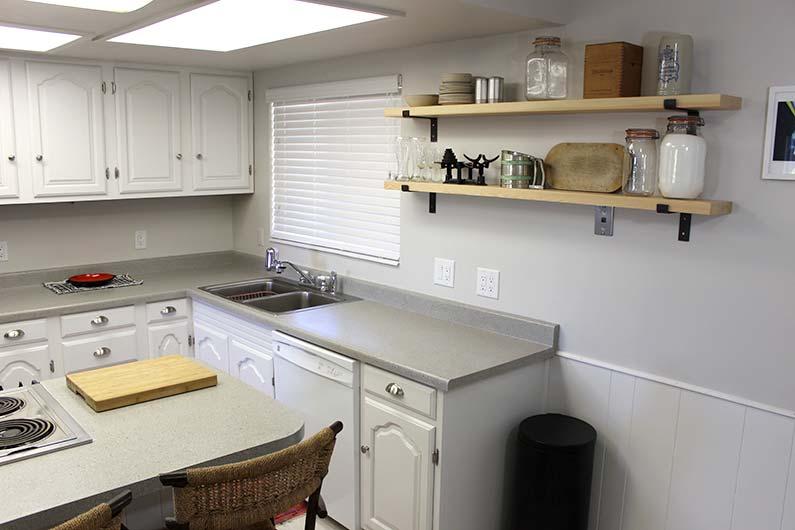 Small, white, updated kitchen makeover!