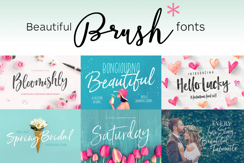 63 Brush Script Fonts – Some Free