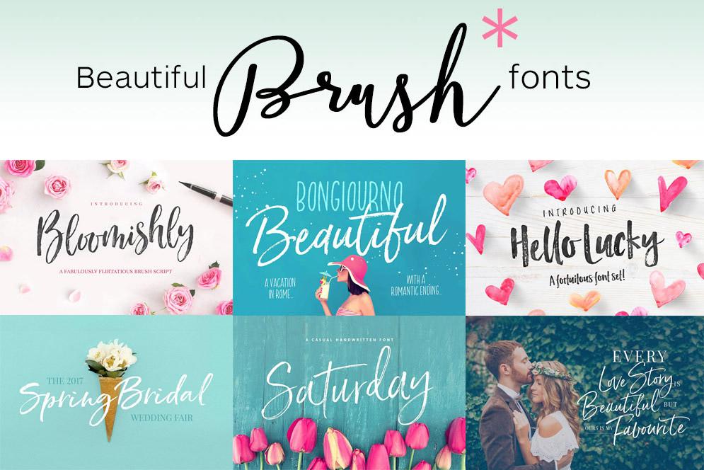 63 Brush Script Fonts – Some Free