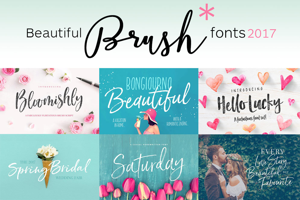 61 Beautiful Brush Script Fonts – Some Free