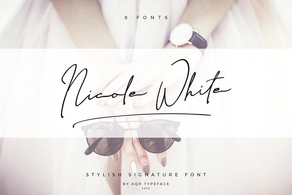 Nicole White Signature Font