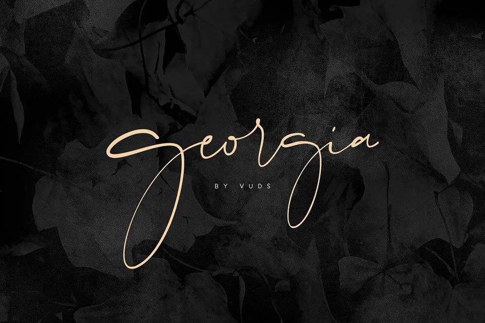 Georgia Signature Font