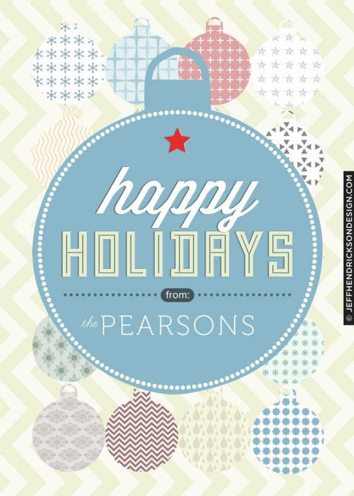 28-Card-5x7 Christmas Card Template