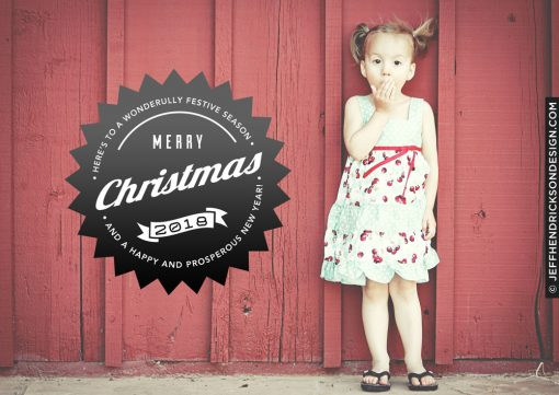 36-Card-7x5 Christmas Card Template