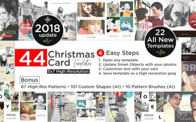 Christmas Cards Template Bundle 2018